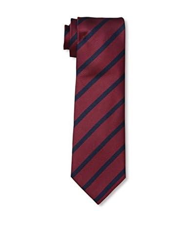Ermenegildo Zegna Men's Striped Tie, Red/Navy