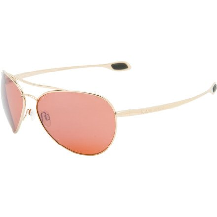 Kaenon Sequence Polarized Aviator Sunglasses,Gold Frame/Copper Lens,one size
