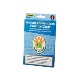 Brain Blasters Writing Conventions Practice Cards - Grade 2