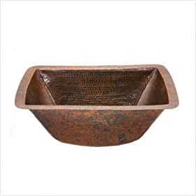 Rectangle Copper Bar Sink in Oil Rubbed Bronze Drain Size: 2""