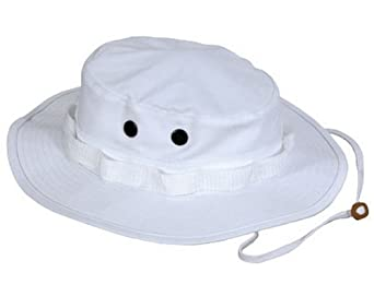 Military Style Boonie Hats White Boonie Hat