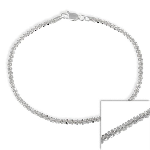 [Burts beads - Sterling Silver Italian 2.5mm Twisted Sparkle Chain Bra YRS 0663] (Lobster Claw Costume Pattern)