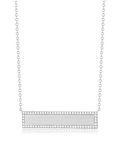 Luca & Lila 14K White Gold & Diamond Horizontal ID Pendant Necklace