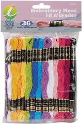 Melrose Embroidery Floss Pack 8 Meters 36/Pkg Pastel Colors 1255; 6 Items/Order