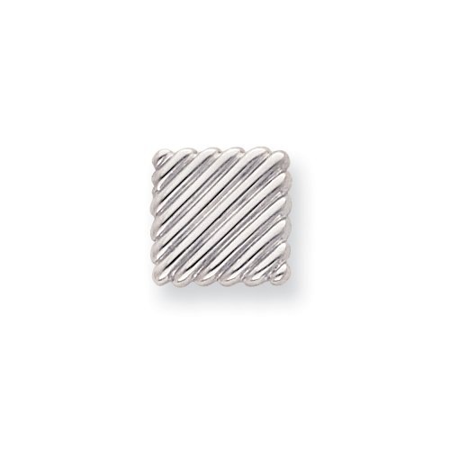 Rhodium-plated Square Tie Tack