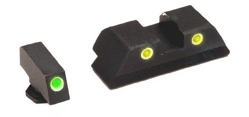 Details for Ameriglo Gl121 Classic Night Sights Glock 4510 Green Frontyell by Ameriglo