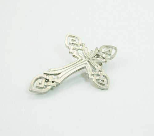 LJ Designs Celtic Cross Pewter Brooch (SG39)