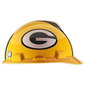 MSA Safety Green Bay Packers - NFL V-Gard Protective Cap Hard Hat by MSA Safety Works