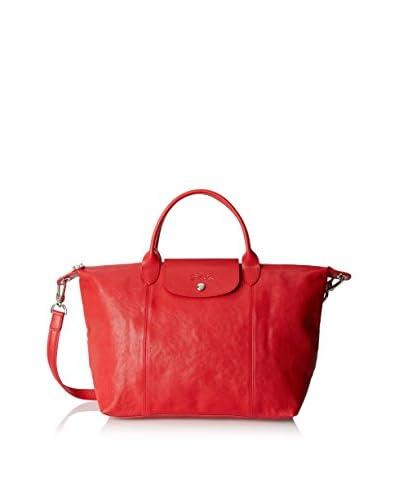 Longchamp Women's Le Pliage Cuir Handbag, Rosso