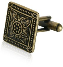 Bronze Victorian Square Cufflinks With Presentation Box