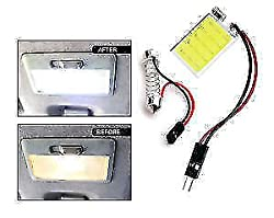 Delhitraderss -Bright COB Chip 24 LED Car Roof Doom Light 6000K Adjustable Festoon Adapter for - Renault Kwid