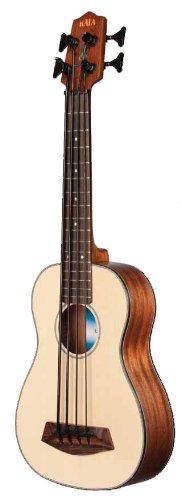 Kala U-Bass Solid Spruce Top Mahogany Body Polyurethane String Fretted Acoustic-Electric Uke-Sized Bass