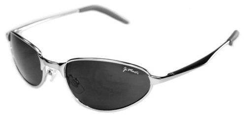 JiMarti AV5 Aviator Sunglasses Spring Hing (Silver & Smoke)