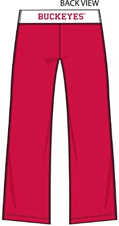 NCAA Ohio State Buckeyes Ladies Crop Yoga Pants - Scarlet by Football Fanatics