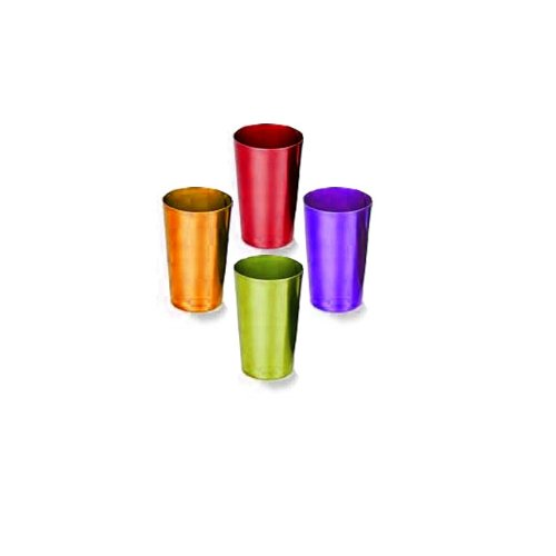 RETRO ALUMINUM TUMBLERS (SET OF 4) (Aluminum Cups compare prices)