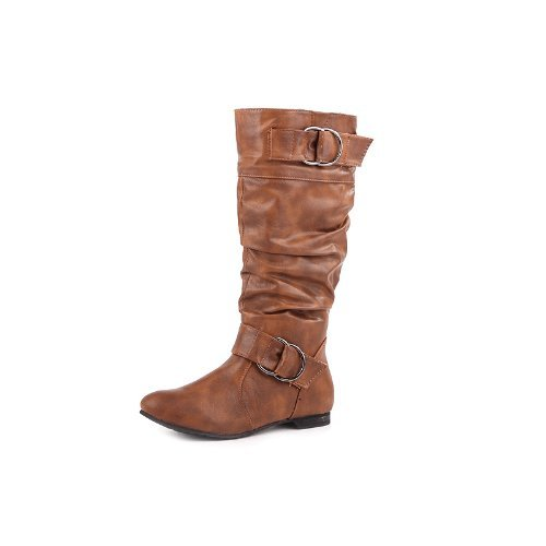 Reneeze K-Art-01 Kids Mid-Calf Boots- Camel, Size 10 back-899711