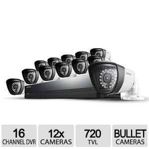 Samsung SDS-P5122 16 Channel All-in-one DVR Security System