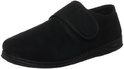 Padders Men's Black Slipper CHARLES 6 UK