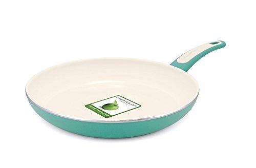 GreenPan Focus 12 Inch Aluminum Non-Stick Ceramic Fry Pan, Turquoise (Non Toxic Pan compare prices)