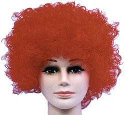 Wig Curly Clown Red Budget Costume Item