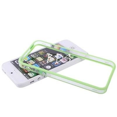 TB1 Products ® Iphone 5 5G 5S Transparent GreenTPU Bumper Frame Rubber Case Cover W_ Metal Buttons for iPhone 5 5G 5S