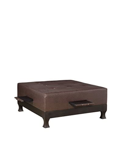 Couef Reynolds Ottoman/Cocktail Table, Chocolate/Onyx