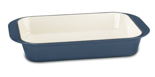 Cuisinart CI1136-24BG Chef's Classic Enameled Cast Iron 14-Inch Roasting/Lasagna Pan, Provencal Blue (Baking Pans Cuisinart compare prices)