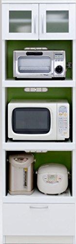 デコレ 奥行40cm 薄型キッチンボード 54KB グリーン【幅54.3×高さ180cm】