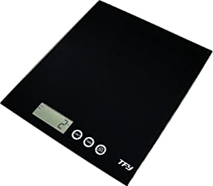 TFY Digital Tempered Glass Kitchen Scale-Black