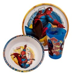 Spider-Man 3 Piece Kid'S Mealtime Set With Plate, Bowl, And Cup front-920470