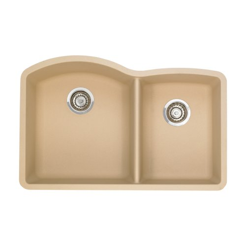 Best Prices! Blanco 441222 Diamond 1-3/4 Bowl Silgranit II Sink, Biscotti