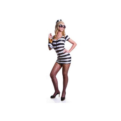 Sexy Celebrity Prisoner (white) Costume Adult Halloween Size Small