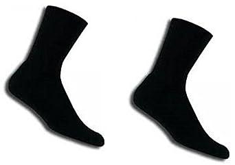 Thorlo Men's Tennis Crew Sock (Medium, Black 2-Pack)