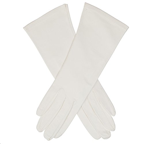 Lundorf Royal Womens Unlined White Leather Dress Gloves - Type B - size 7