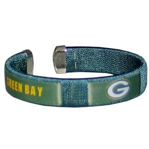 Green Bay Packers NFL Green Fan Band Cuff Bracelet