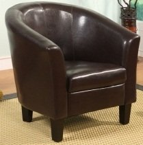 Tub Chair/Seating Chocolate Brown Faux Leather