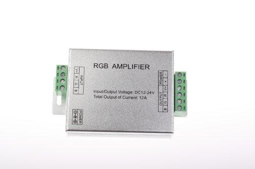 Generic Dc 12V-24V Aluminum Case Rgb Signal Amplifier For Smd 3528&5050 Led Strip Light