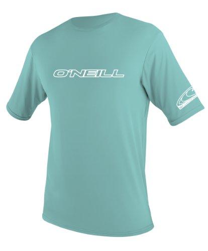 O'Neill Wetsuits Youth Basic Rash Guard T-Shirt, Spy Glass Green, 12