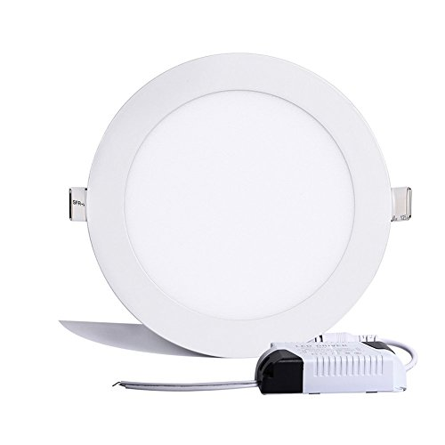B-right 12W 6-inch Ultra-thin Round LED Panel Light, 850lm, 80W Incandescent Equivalent, 3000K Warm White, LED Recessed Ceiling Lights for Home, Office, Commercial Lighting (Led Light Panel Ceiling compare prices)