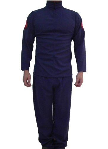 [E-Mell Unisex Naruto Cosplay Hatake Kakashi Leaf Village Martial Attire Costume L Dark Blue] (Naruto Deidara Cosplay Costume)