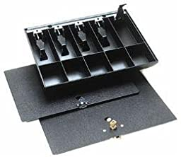 MMF Industries 225286104 Duralite, Cash Tray Only, 5-Currency, 5-Coin Compartments, 14-3/8W x 2-1/4H x 11-1/2 D Inch, Black, Replacement tray for most cash drawers in banks, retail stores and currency exchanges., High-Impact Polystyrene