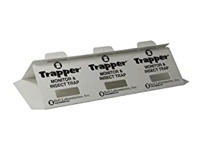 Trapper Insect Trap (Great for Bed Bugs, Spiders, Cockroaches) - Includes 90 Traps