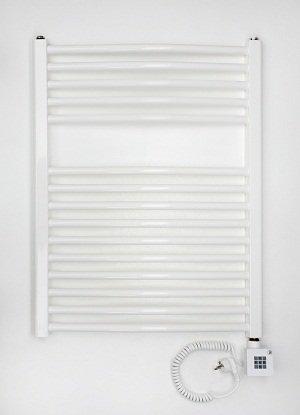 Badheizkörper elektrisch, 775 x 400, weiß/gerade
