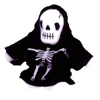 Ty Beanie Babies - Creepers the Skeleton - 1