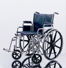 """^Excel Extra-Wide Wheelchairs - K0001 and K0007 Reimbursement Code - 22"""" wide, removable desk-length arms swing-away detachable footrests, 350 lb weight capacity Min.Order is 1 EA ( 1 Each / Each )"""