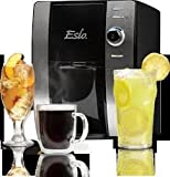 Esio Hot and Cold Beverage Maker, Black and Chrome Countertop Model CB1001