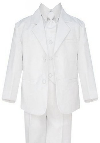Formal Boys Suit From Baby To Teen (Medium/6-12 Months, White) front-343264