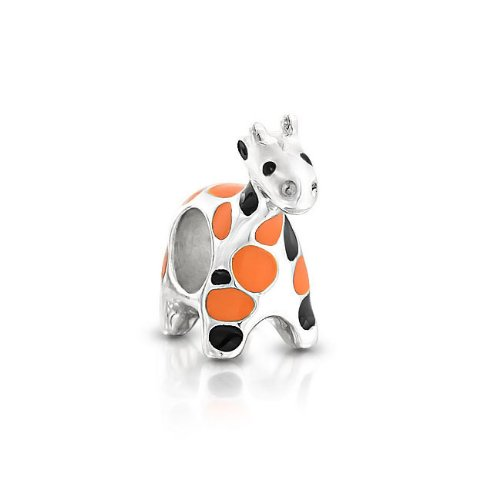 If you love the african safari then you will love this adorable giraffe animal bead.  Giraffes represent gracefulness and protection.  Their longs necks are their unique feature that makes them stand