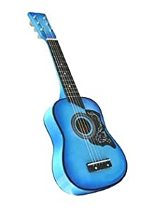 25 inch blue acoustic toy guitar for kids with carrying bag and accessories. Black Bedroom Furniture Sets. Home Design Ideas