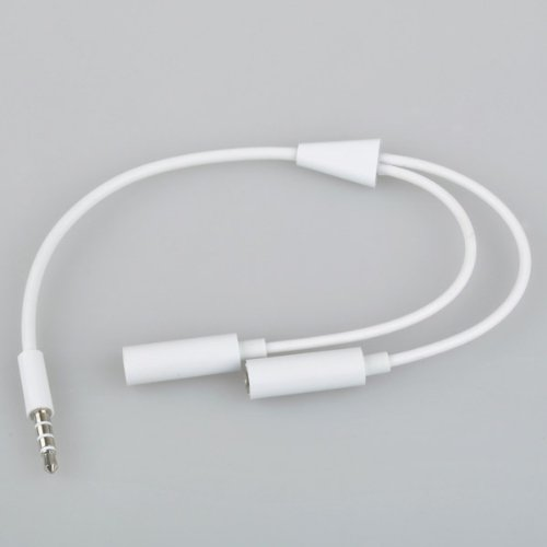3.5Mm Jack Headset Headphone Male To 2 Female Audio Adapter Splitter Cable
